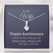 To My Wife Anniversary Necklace
