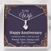 To My Wife Happy Anniversary Necklace