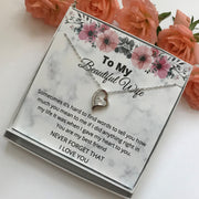 To My Wife Sterling Silver Forever love heart Necklace
