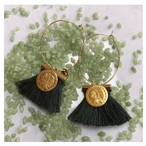 Indian Pompon Earrings **NEW**