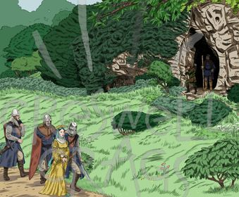 Robin Hood Cave Cartoon Digital Download