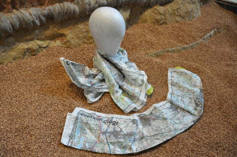 Creswell Crags Splashmap Scarf