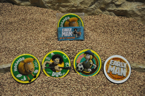 Early Man Set of 4 Coasters