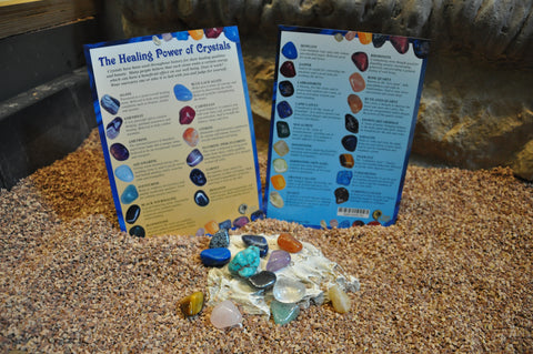 12 Assorted Gemstones and Information Card