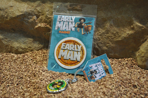Early Man Magnet & Keyring