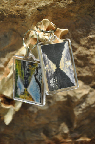Creswell Crags Gorge Acrylic Keyring