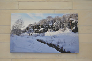 Canvas: Creswell Crags Winter Morning