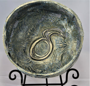 Flow Bowl with Water Bird