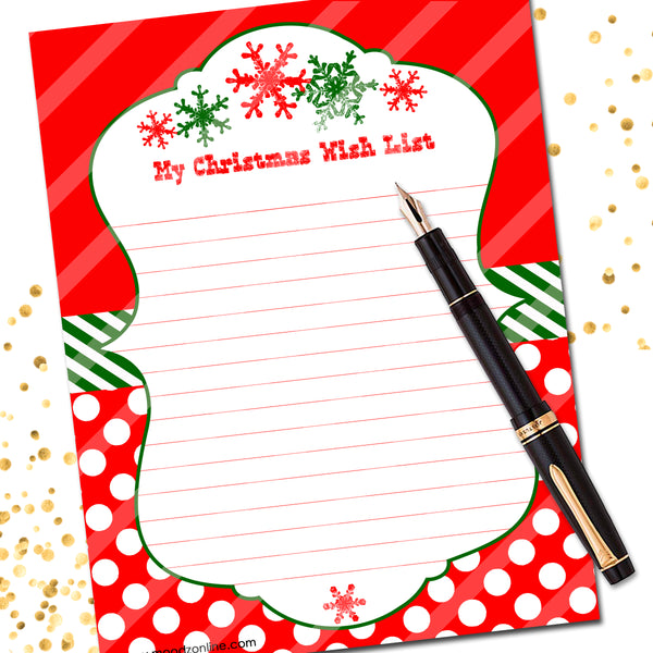 Christmas Wish List Dots