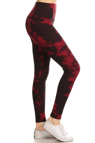 "Lotus Athletics: ""Magic Leggings"" - Red Tie Dye"
