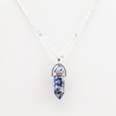 Sodalite Crystal Healing Pendant Necklace