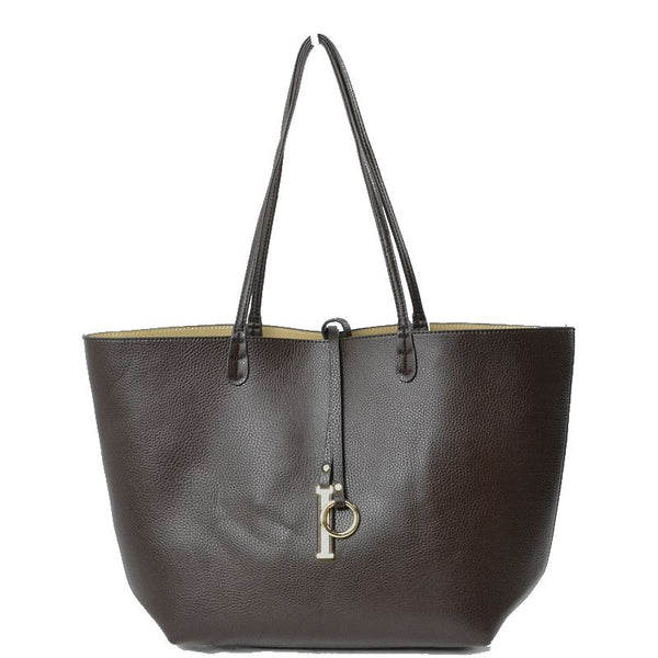 Reversible Tote: Chocolate & Tan