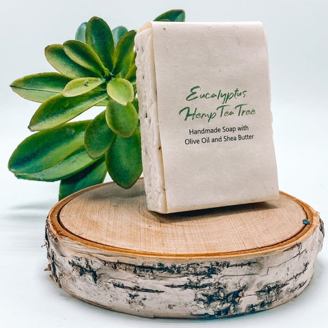 Eucalyptus Hemp Tea Tree- Handmade Organic Soap