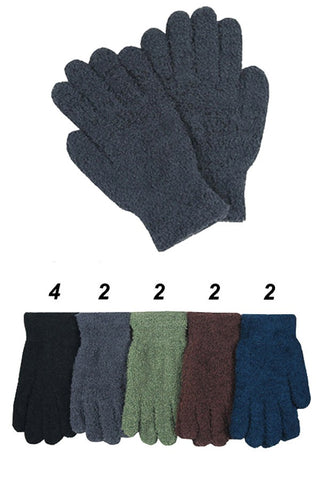 Fuzzy Teddy Feel Winter Gloves