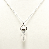Howlite Crystal Healing Pendant Necklace