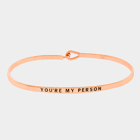 """Your My Person"" Engraved Bracelet (GOLD, SILVER, ROSE GOLD)"