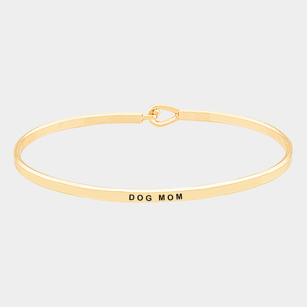 """Dog Mom"" Engraved Bracelet (GOLD, SILVER, ROSE GOLD)"