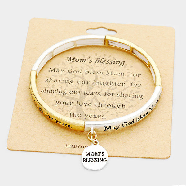 """Mom's Blessing"" Stretch Bracelet"