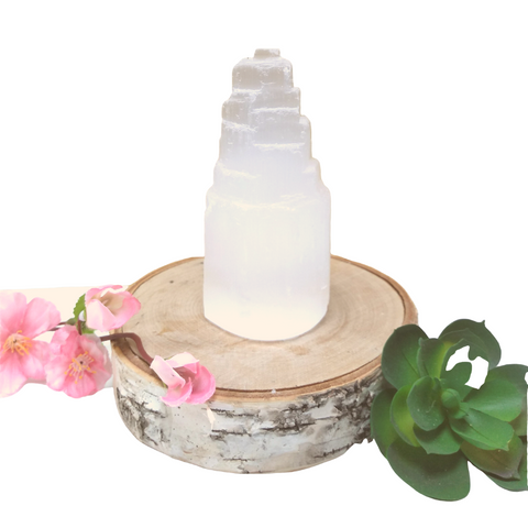 Selenite Tower: Medium (4 inch)