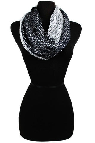 Crochet Knit Infinity Scarves