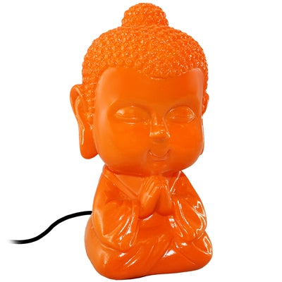 Praying Baby Buddha LED USB Lamp: Orange