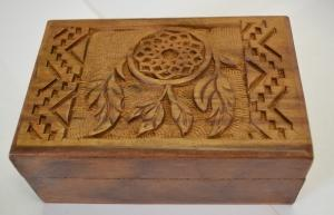 Dream Catcher Wooden Carved Box