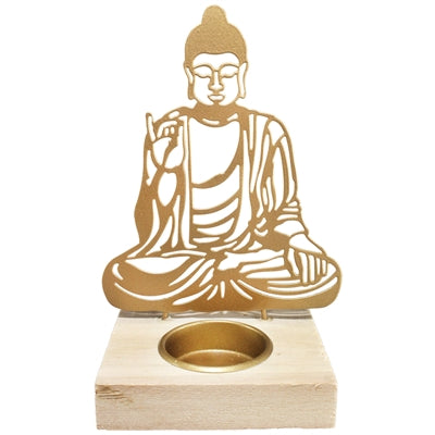 Gold Buddha Tea Light Holder