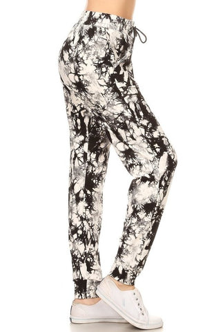 Black & White Marble Joggers