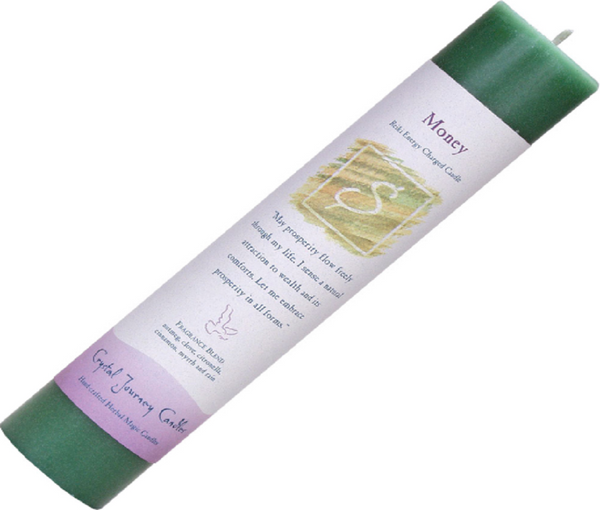 Money - Reiki Pillar Candle