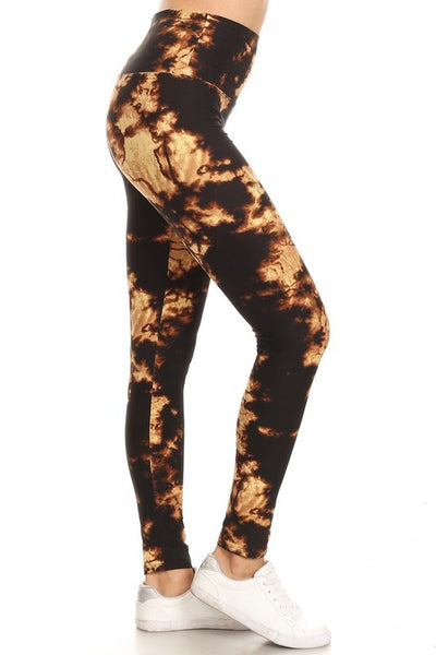 "Lotus Athletics: ""Magic Leggings""- Gold Tie Dye"