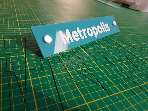 Teal Acrylic Door Sign for Formedix UK