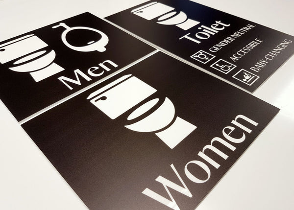 Bespoke UV Printed Acrylic Toilet Signs