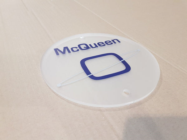 Frosted Acrylic Door Signs produced for Oxbotica