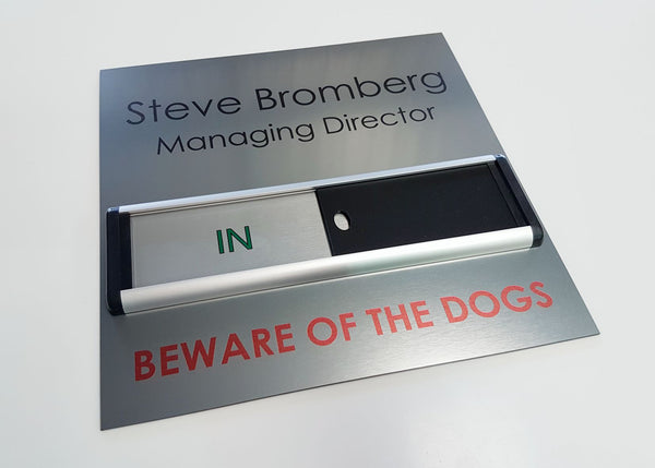 Beware of the Dogs Bespoke Sliding Sign