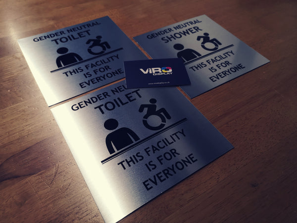Gender Neutral Toilet Signs with Custom Wording