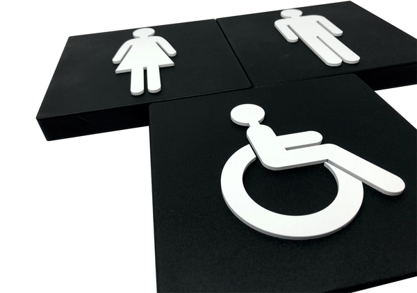Contemporary and Modern Toilet Signs for Cinema in Devon