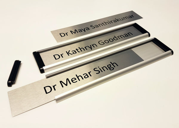Curve Changeable Door Signs for a Berkshire Doctor's Surgery