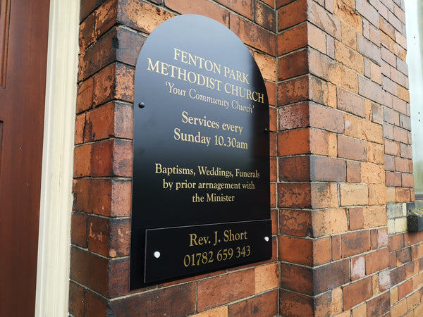 New Outdoor Sign for Fenton Park Methodist Church