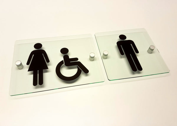 Bespoke Acrylic Toilet Signs Leaving Today