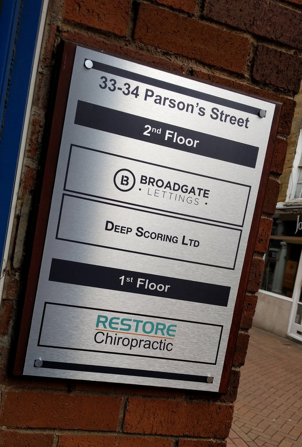 External Silver Plaque for Broadgate Lettings