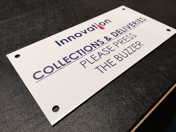 Outdoor Deliveries Plaque for Innovation Schoolwear