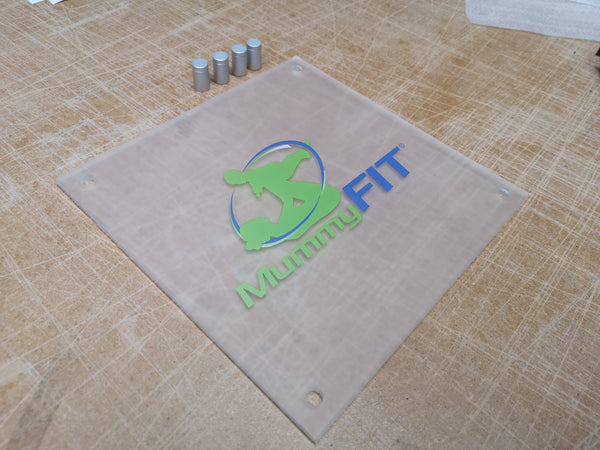 Frosted Acrylic Entrance Plaque for MummyFIT