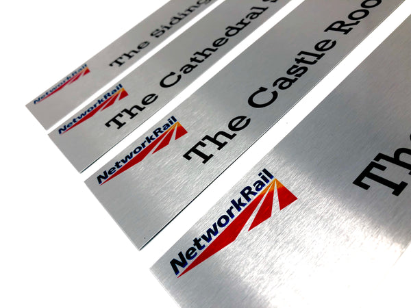 Slimline Aluminium Door Signs for Network Rail