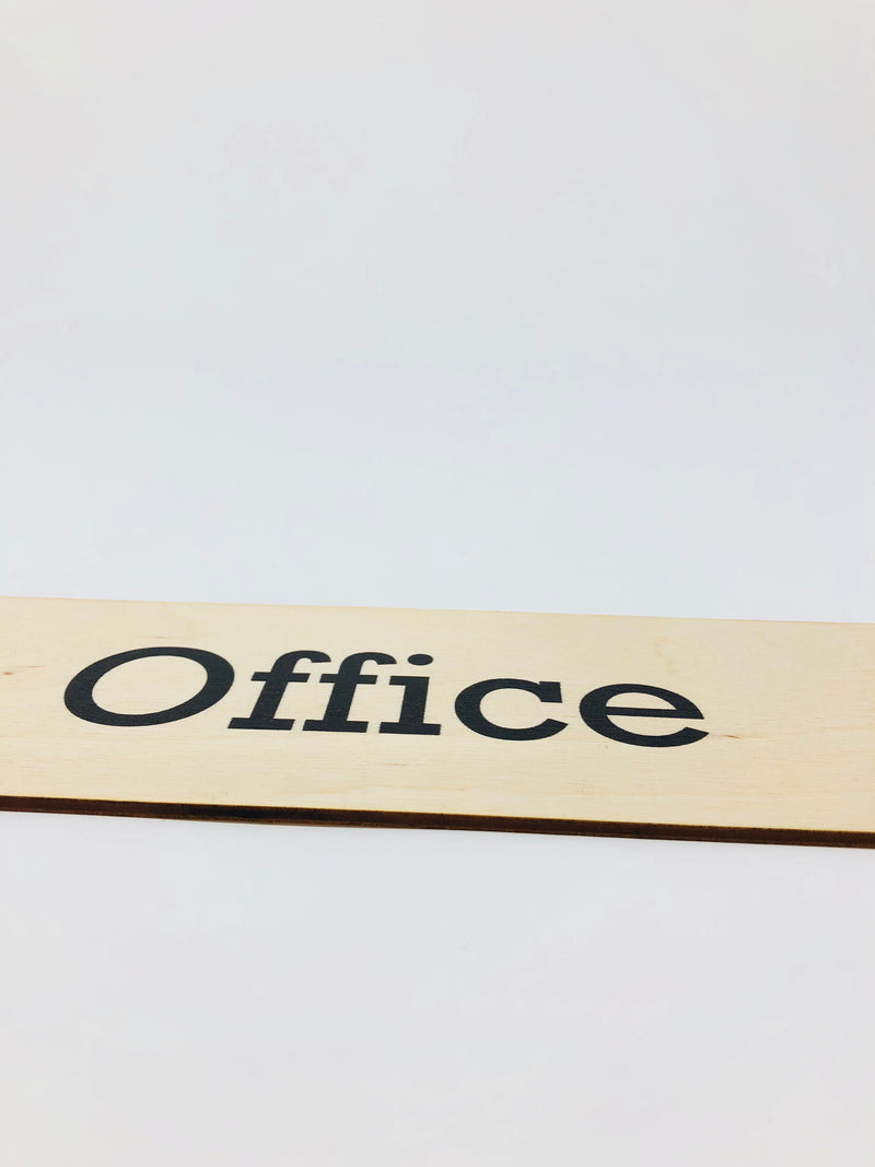 Plywood Office Door signs from Viro