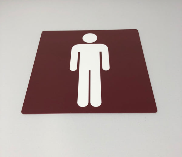 Acrylic Male & Female Toilet signs complete for Scarborough College