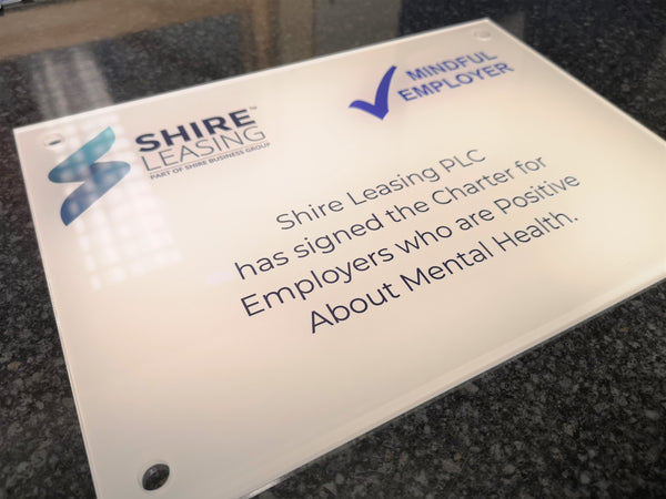 Clear Acrylic Plaque for Shire Leasing PLC
