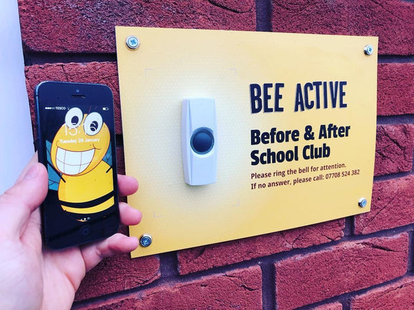 Printed external plaque for Bee Active