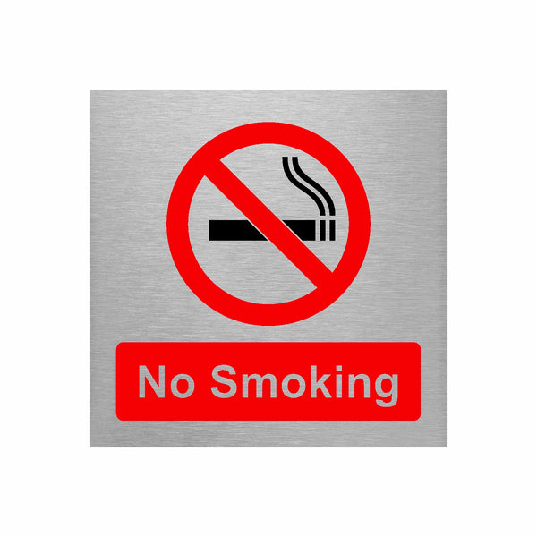 Slimline Aluminium No Smoking Sign