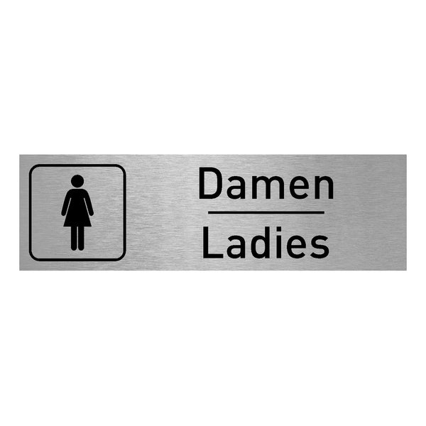 Damen Ladies WC Aluminiumschild