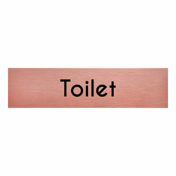 Rose Gold Aluminium Oblong Toilet Sign